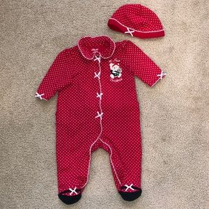 My First Christmas Onesie Outfit with Hat 6 mo